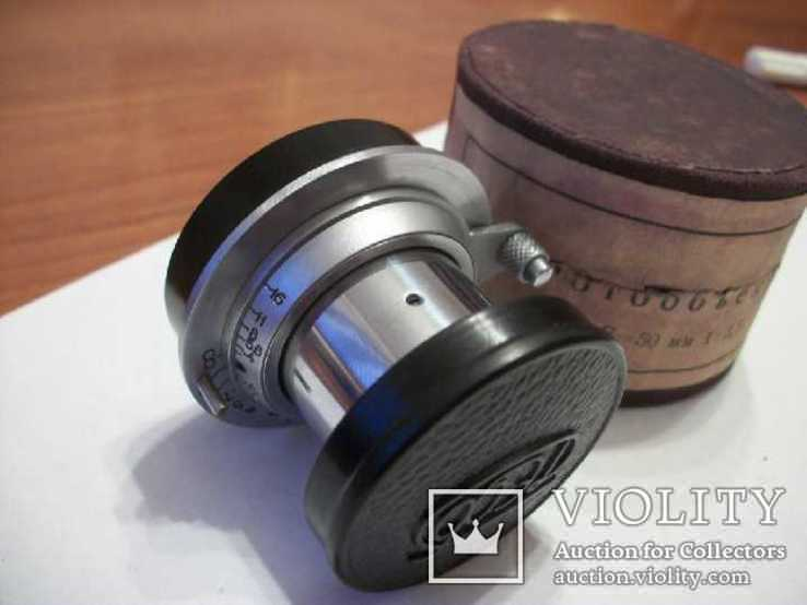 Объектив фэд 1:3,5 f50mm, коллекц, передняя-задняя крышки оригинал и футляр, фото №3