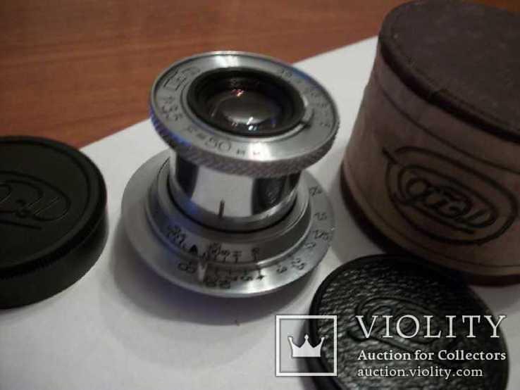 Объектив фэд 1:3,5 f50mm, коллекц, передняя-задняя крышки оригинал и футляр, фото №4