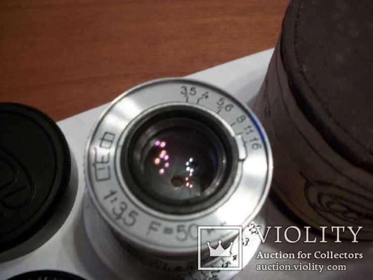 Объектив фэд 1:3,5 f50mm, коллекц, передняя-задняя крышки оригинал и футляр, фото №8