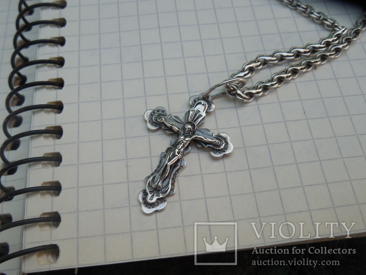 Серебрянная цепочка с крестиком, фото №5