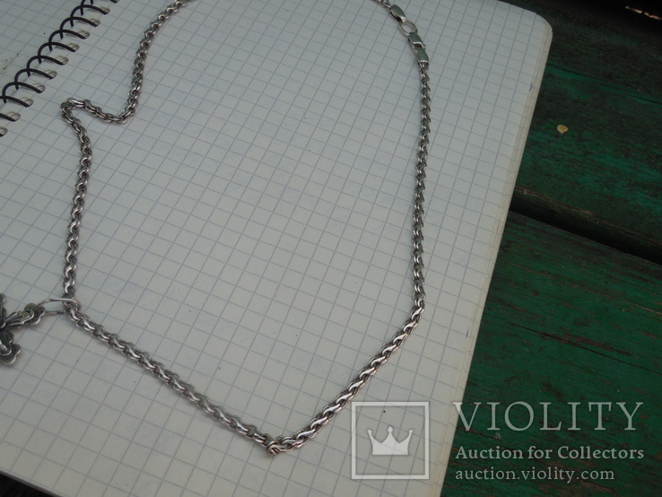 Серебрянная цепочка с крестиком, фото №6