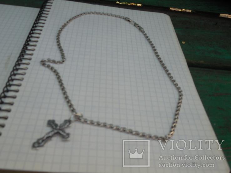 Серебрянная цепочка с крестиком, фото №9