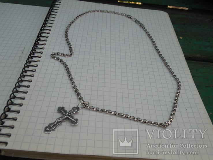 Серебрянная цепочка с крестиком, фото №10