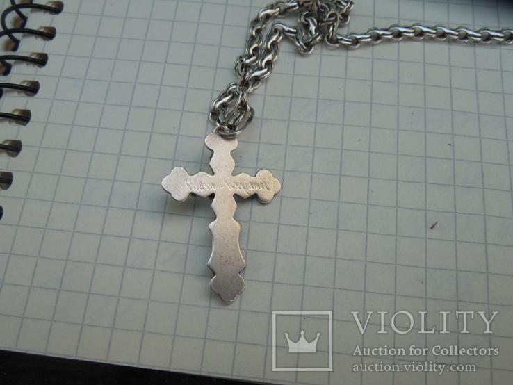 Серебрянная цепочка с крестиком, фото №11