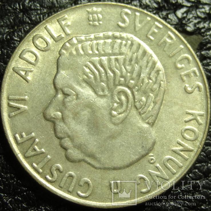 1 крона Швеція 1967 срібло, фото №2