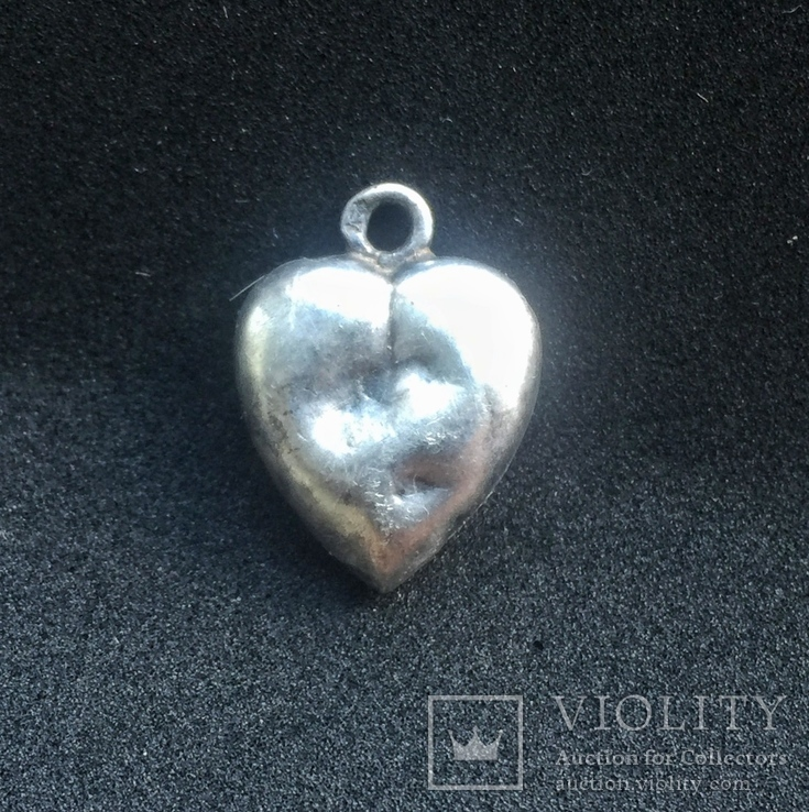 Старинный кулон сердечко. Клеймо «А», фото №3
