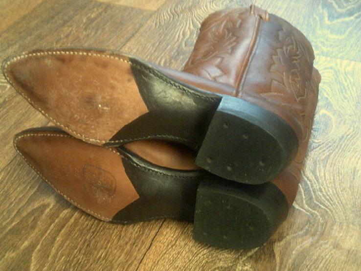 Кожаные вестерн  сапоги (USA) разм.40, фото №9