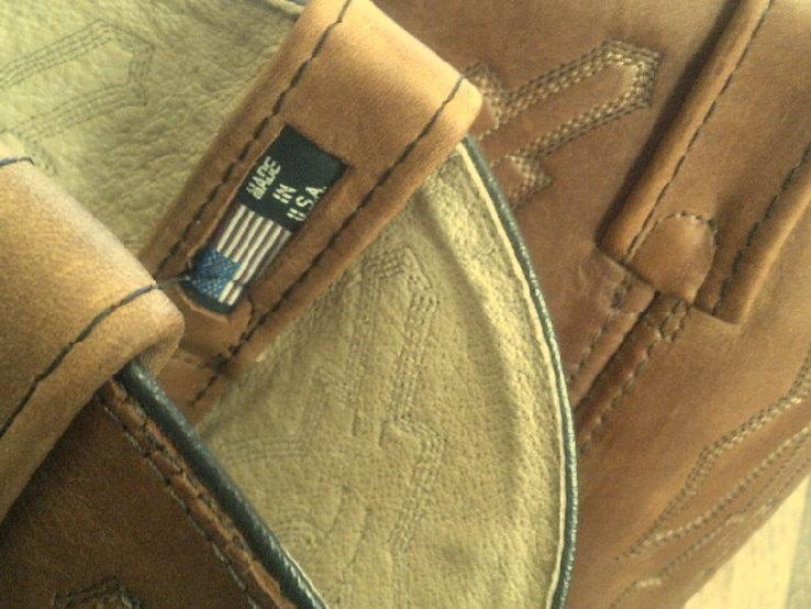 Кожаные вестерн  сапоги (USA) разм.40, фото №11