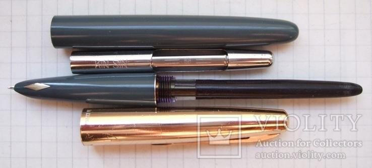 """Перьевая ручка """"Kin Sin-224"""" 70-е. Пишет очень мягко. тонко и насыщенно, фото №4"""