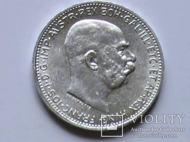 1 крона 1915 г. Австро-Венгрия., фото №2