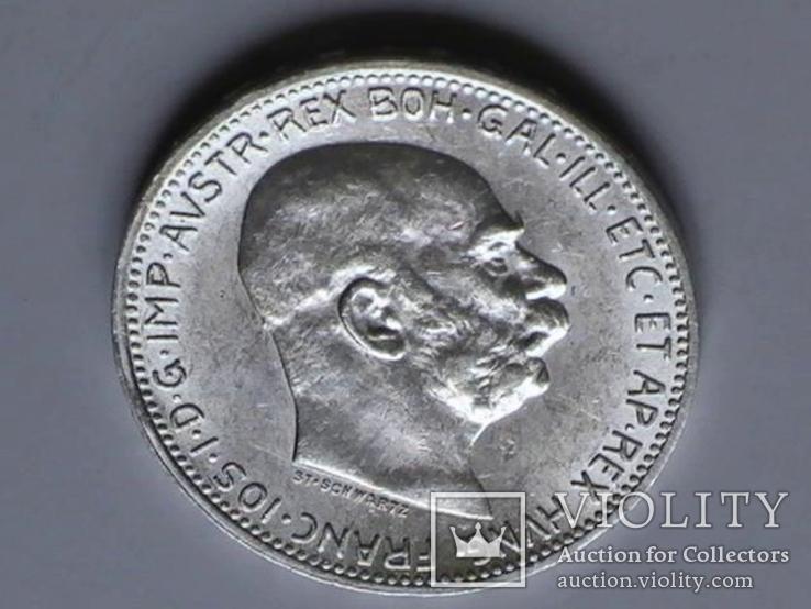 1 крона 1915 г. Австро-Венгрия., фото №3