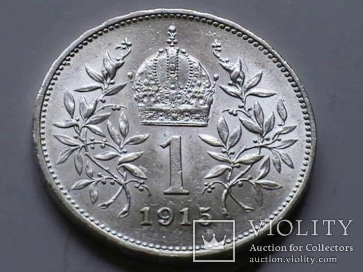 1 крона 1915 г. Австро-Венгрия., фото №4