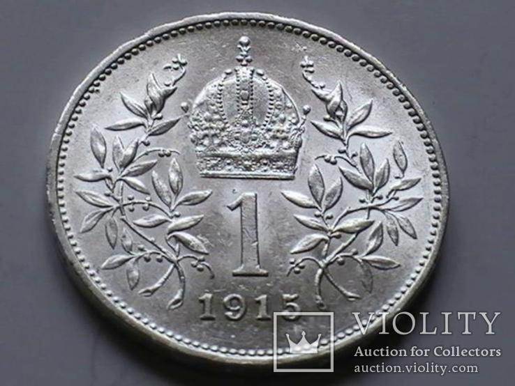 1 крона 1915 г. Австро-Венгрия., фото №5