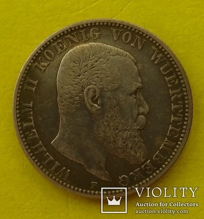 2 марки, Вюртемберг, 1901 год., фото №3