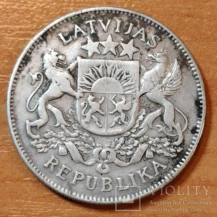 Латвия ,1925 год,2 лата, фото №2
