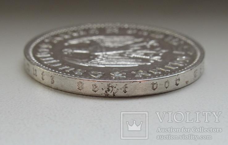5 марок 1935 г. (J), Третий рейх, серебро, фото №11