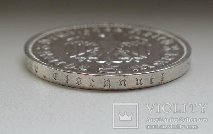 5 марок 1935 г. (J), Третий рейх, серебро, фото №12