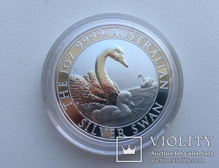 Лебедь Австралии 2019 Swan Серебро, фото №3