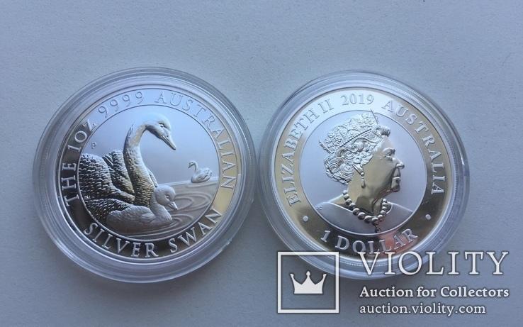 Лебедь Австралии 2019 Swan Серебро, фото №9
