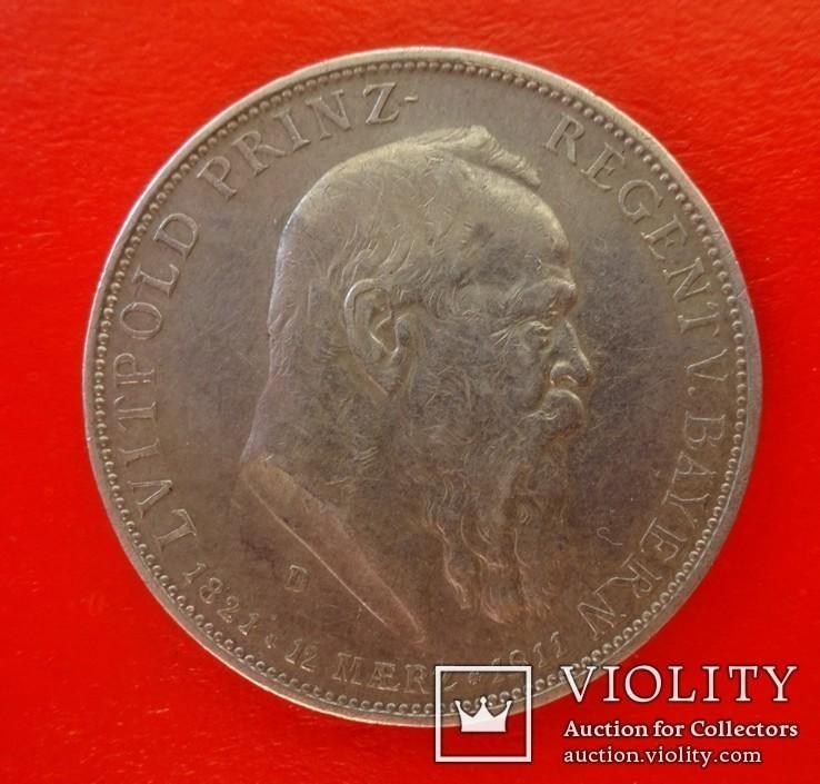 5 марок, Бавария (Германия), 1911 год., фото №3