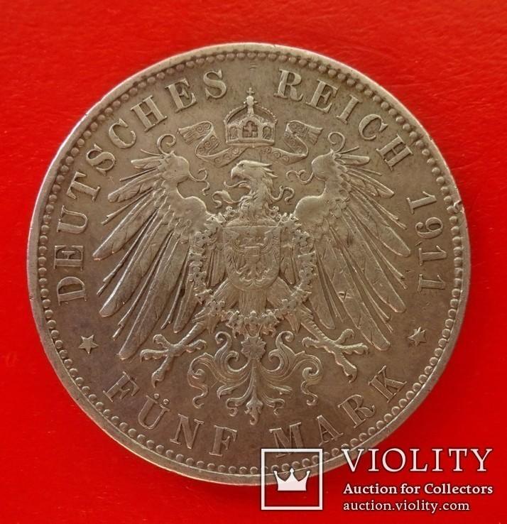 5 марок, Бавария (Германия), 1911 год., фото №4