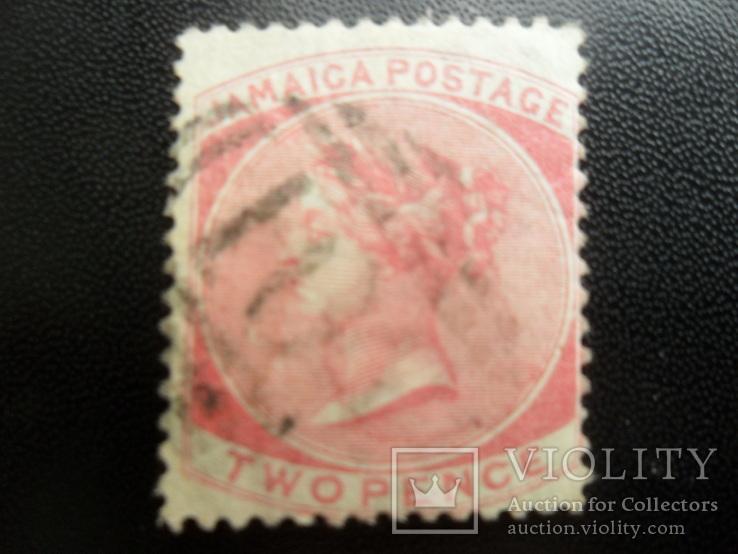Британские колонии. Ямайка. 1883 г. Виктория. гаш- 5,9 дол. США