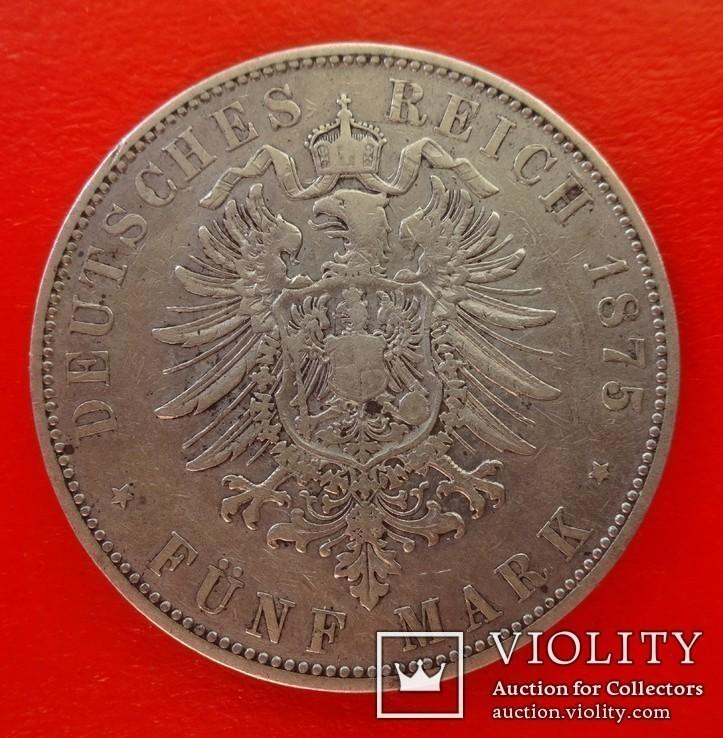 5 марок, Гессен (Германия), 1875 год, Н, фото №3