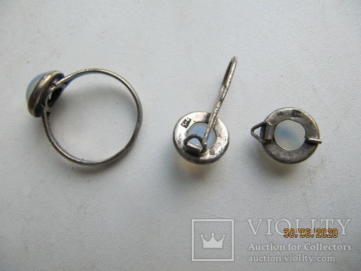 Кольцо и серьги СССР 875 проба под реставрацию, фото №7