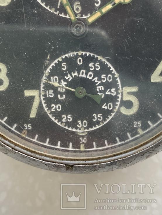 Авиационные часы АЧХ с позолоченным механизмом, фото №4