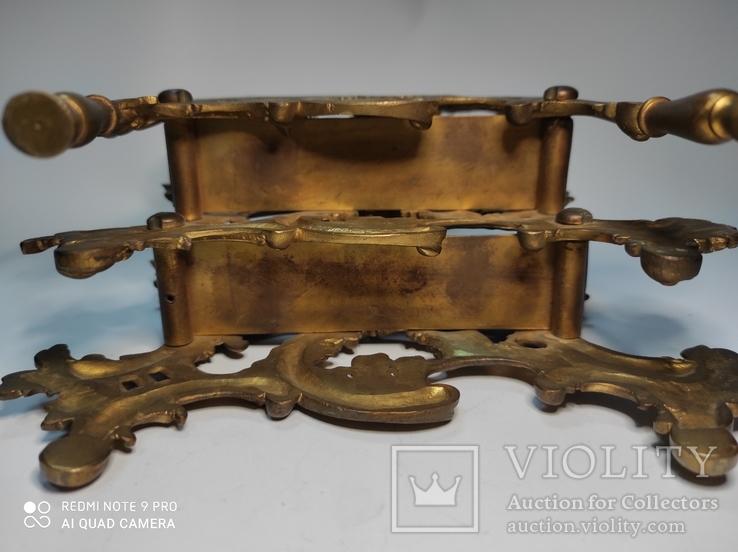 Старинная подставка для бумаг бронза, фото №5
