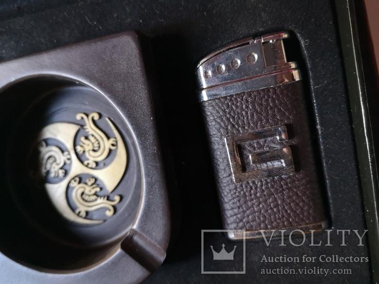Сувенирный набор нож пепельница зажигалка, фото №5