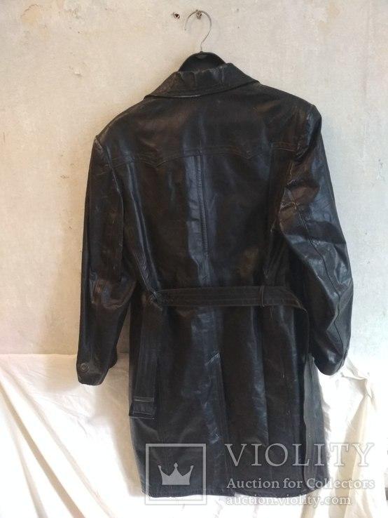 Кожаный плащ СССР, 46 размер, фото №3