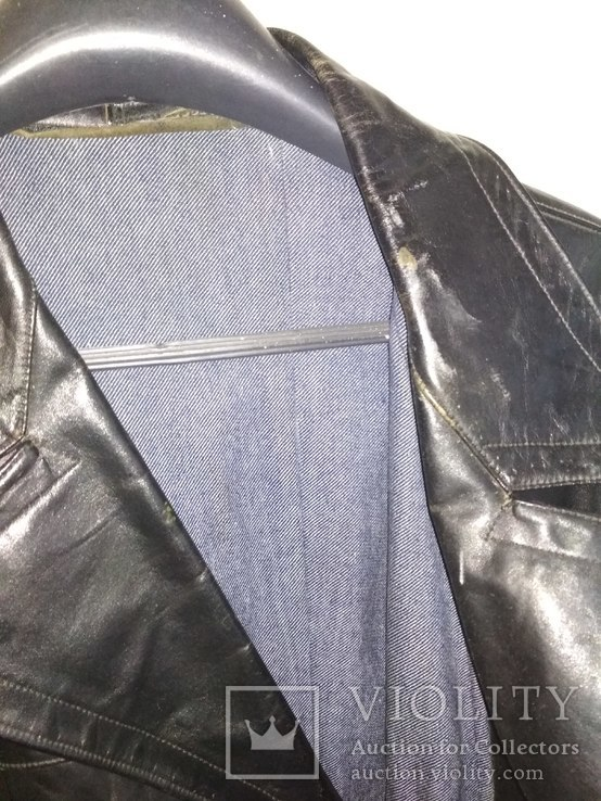 Кожаный плащ СССР, 46 размер, фото №4