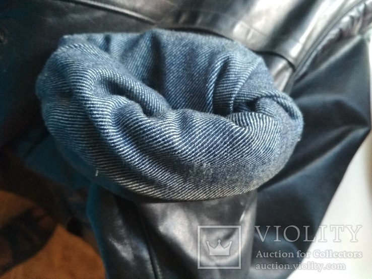 Кожаный плащ СССР, 46 размер, фото №6