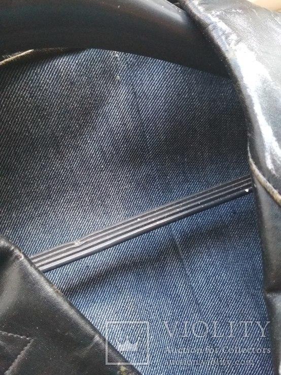 Кожаный плащ СССР, 46 размер, фото №7