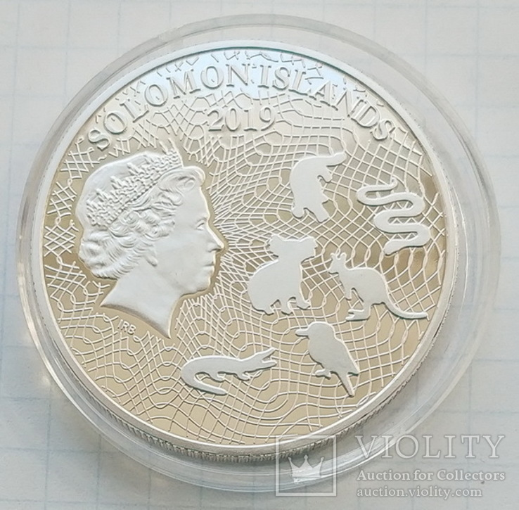Соломоновы Острова. Кенгуру. 1 доллар 2019 г. Копия, фото №3