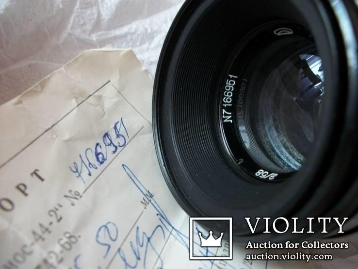 Объектив гелиос-44-2, зебровый [нов, коллекц] сдвинутая надпись заводского номера, фото №3