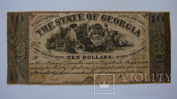 Джорджия 10 долларов 1864
