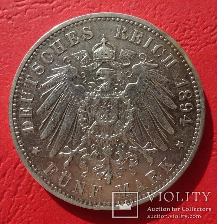 5 марок, 1894 год, Саксония., фото №4