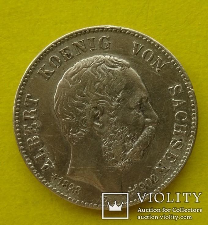 2 марки, Саксония, 1902 год., фото №2