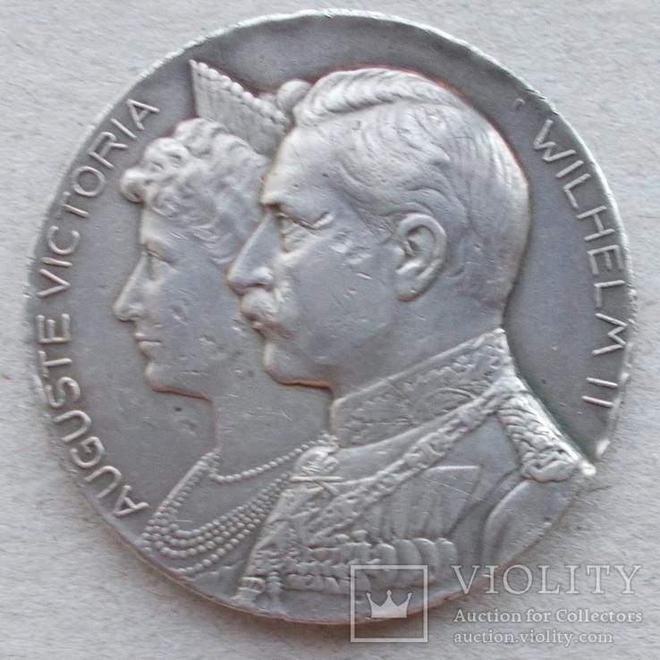Медаль. 1906 г. Wilhelm II, Auguste Victoria, серебряная свадьба