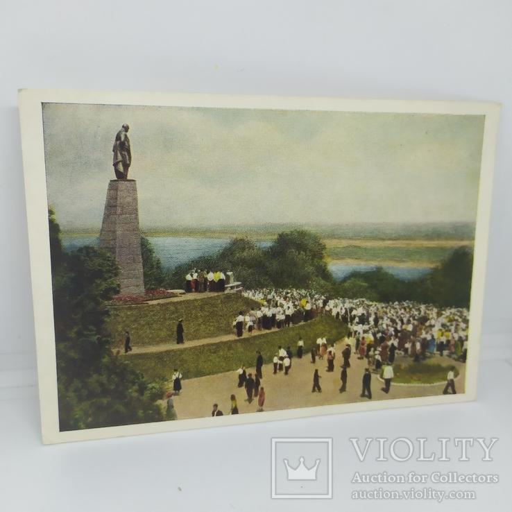 Открытка 1954 Канев. памятник Шевченко на Чернечьей горе. чистая, фото №2