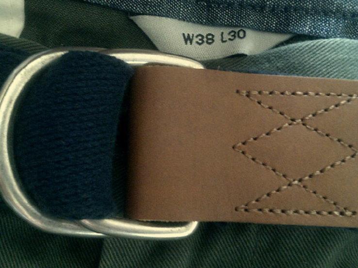 Teilor плотные котон штаны + ремень Gant, фото №7
