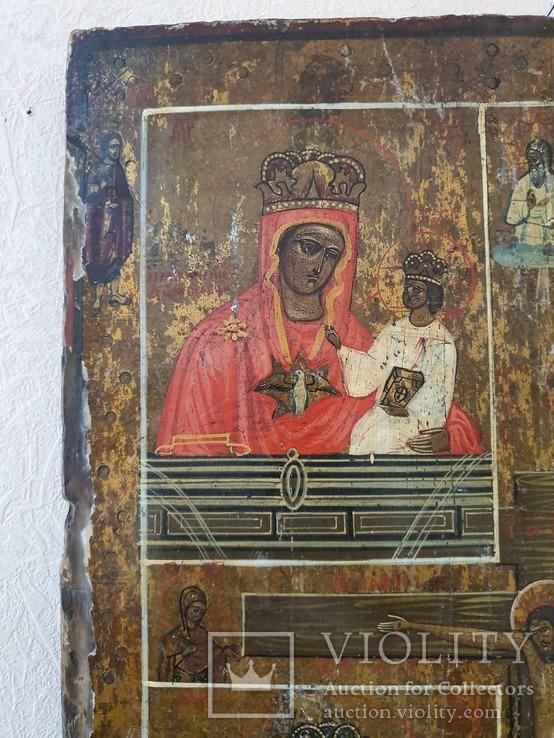 Четырёхчастная икона с сюжетами Богородицы, фото №3