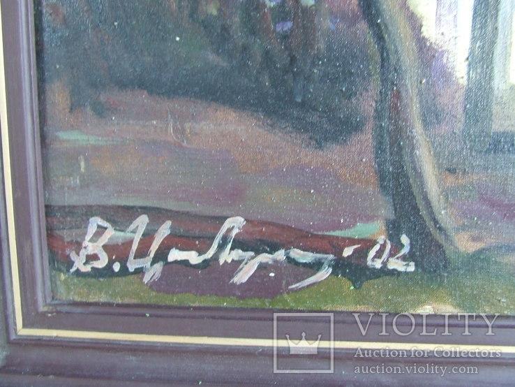 Зас. худ.укр. ЦИБЕРЕ В. раз. 60 х 80 см. х.м. 2002 г. Закар. школа. Девушка  у  дома., фото №4