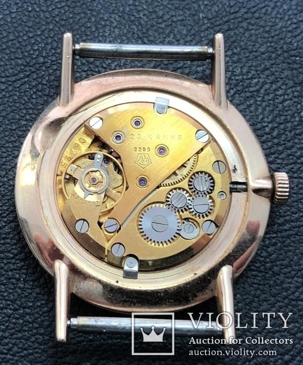 Золотые часы Луч на Героя СССР в честь 20 лет победы в ВОВ. На ходу, фото №10
