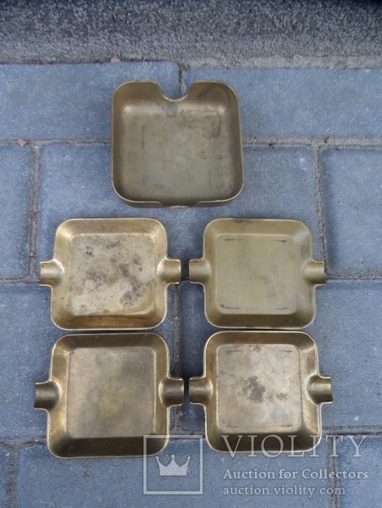 Набор мини пепельниц Бронза Европа, фото №8