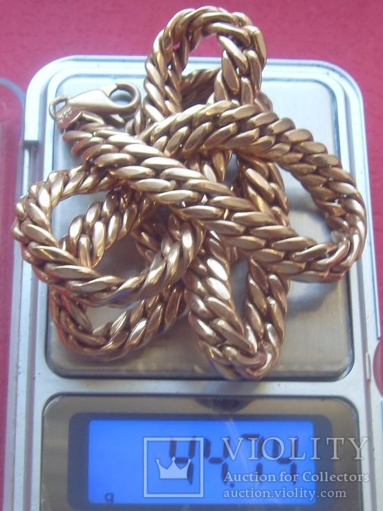 Цепь золотая 44, 74 грамма., фото №6