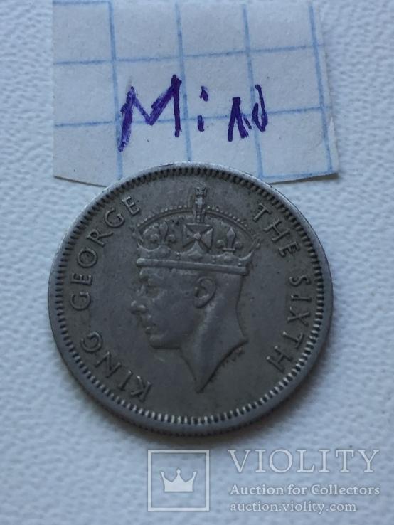 Малайя 10 центов, 1950, фото №2
