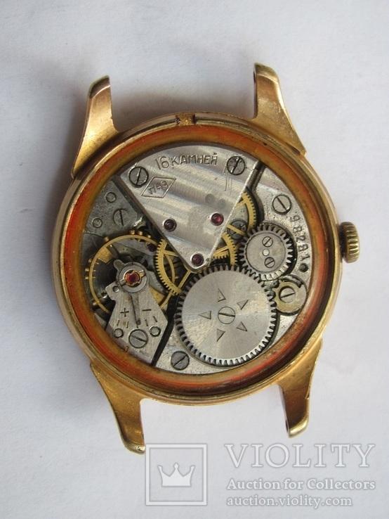Часы в позолоте Au20у ПЧЗ, фото №11